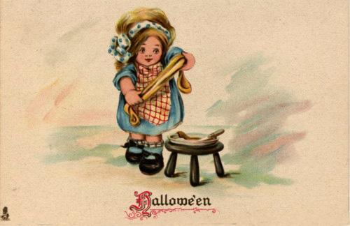 Ilustraciones retro Halloween 11