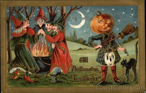 Ilustraciones retro Halloween 29
