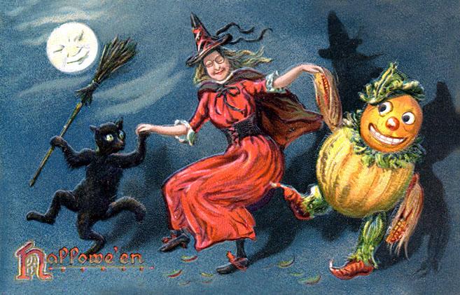 Ilustraciones retro Halloween 45