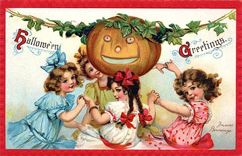 Ilustraciones retro Halloween 46