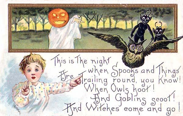 Ilustraciones retro Halloween 47