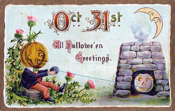 Postales retro Halloween 10