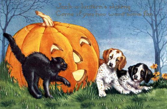 Postales retro Halloween 12