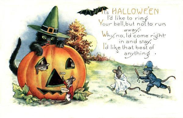 Postales retro Halloween 13