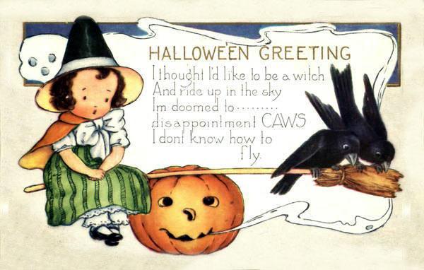 Postales retro Halloween 14