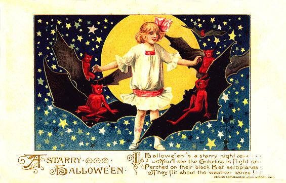 Postales retro Halloween 15