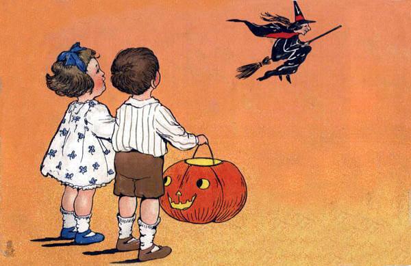 Postales retro Halloween 17