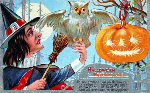 Postales retro Halloween 23