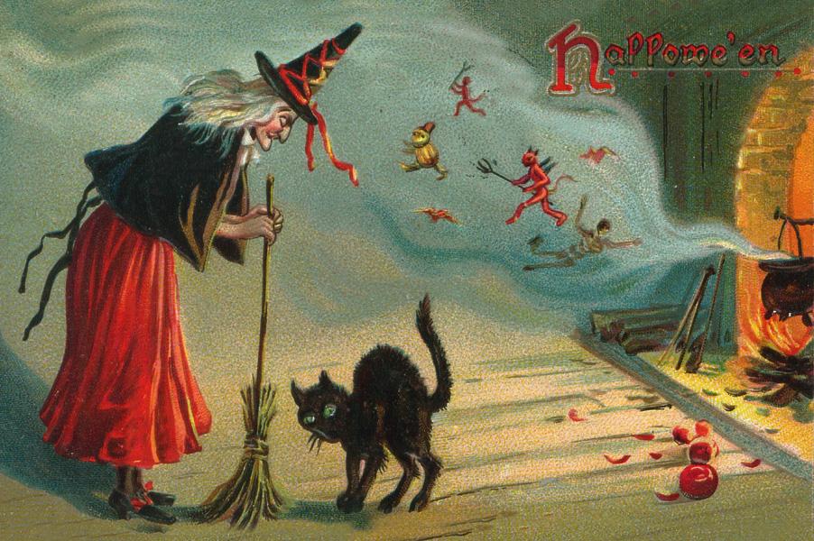 Postales retro Halloween 24