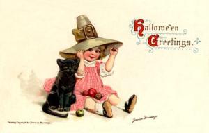 Postales retro Halloween 28