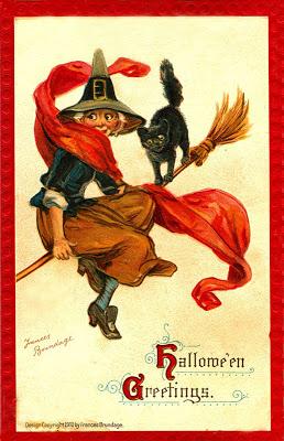 Postales retro Halloween 29