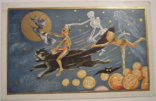 Postales retro Halloween 45