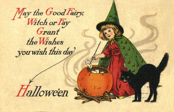 Postales retro Halloween 50