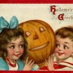 Postales retro de Halloween