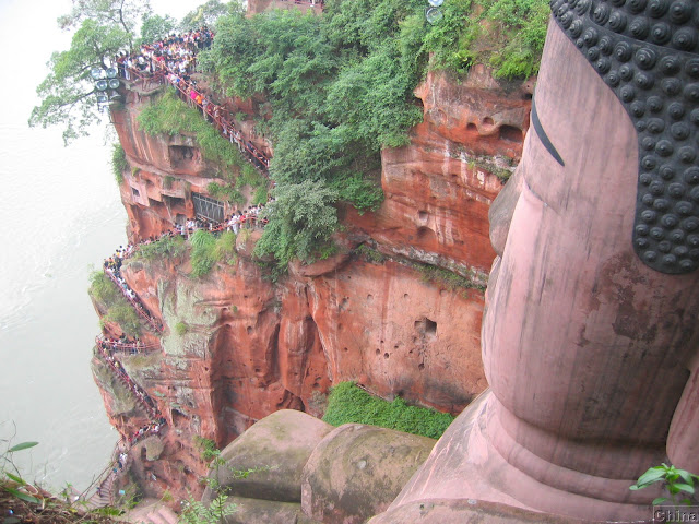 buda leshan china vista escaleras
