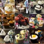 Cupcakes para Halloween de Monster High