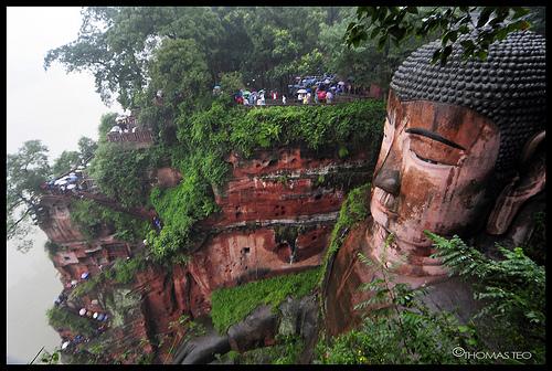 estatua buda sichuan china
