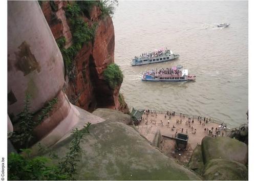estatua gran buda leshan china barcos