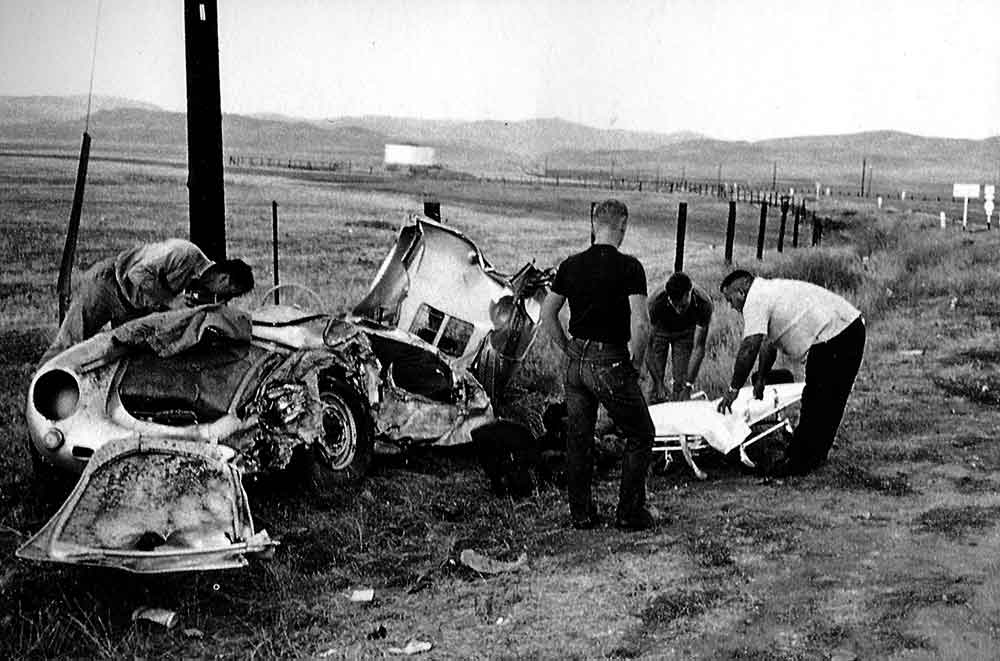 james dean accidente coches muerte