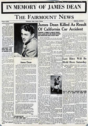James Dean Memory Edition Fairmont News