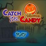 Juego de coger caramelos en Halloween