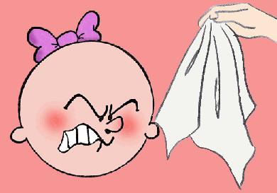 limpiar nino panuelo saliva
