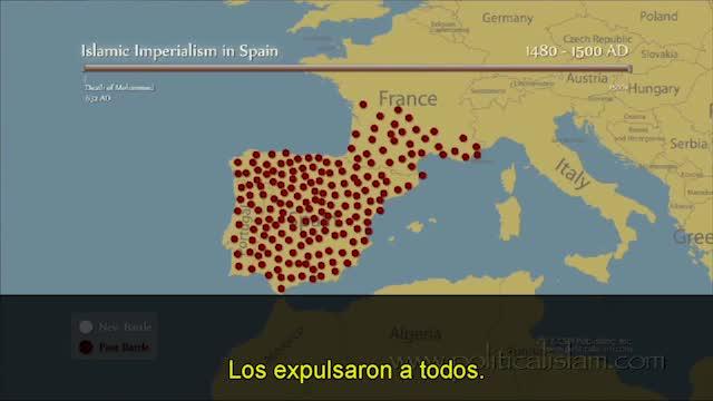 mapa guerras espana al andalus