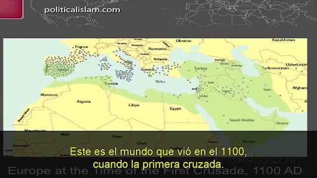 mapa islam antes cruzadas