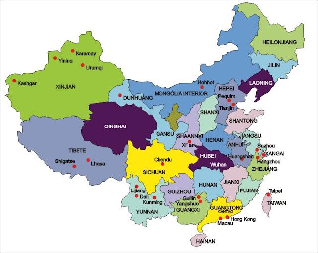 mapa provincias china