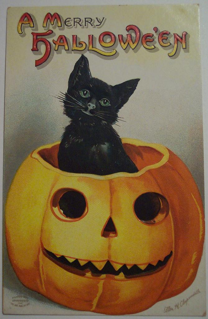 postales vintage Halloween 09