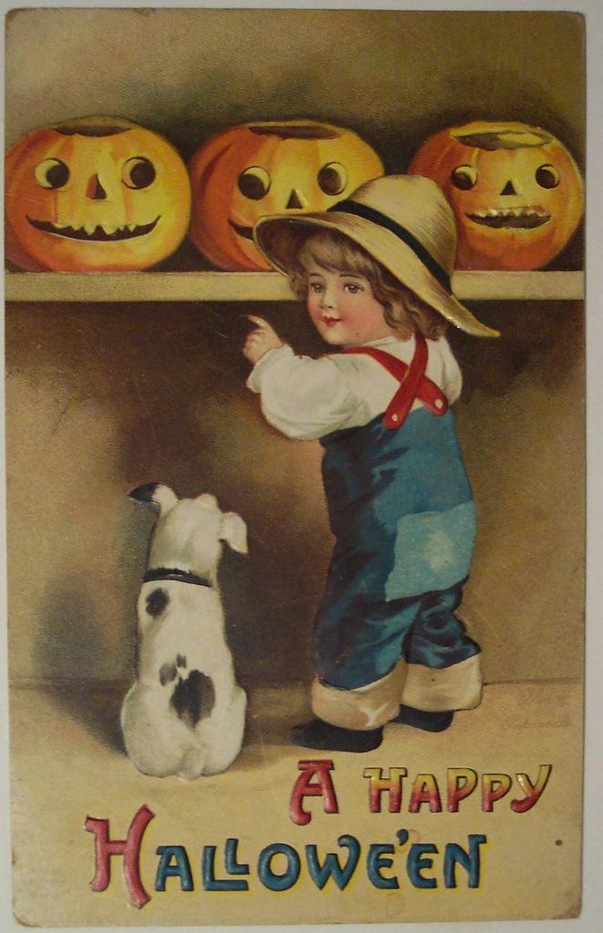 postales vintage Halloween 11