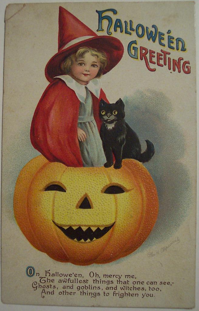 postales vintage Halloween 16