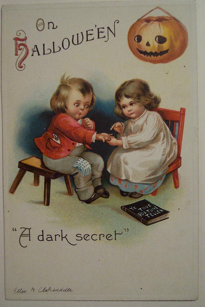 postales vintage Halloween 26