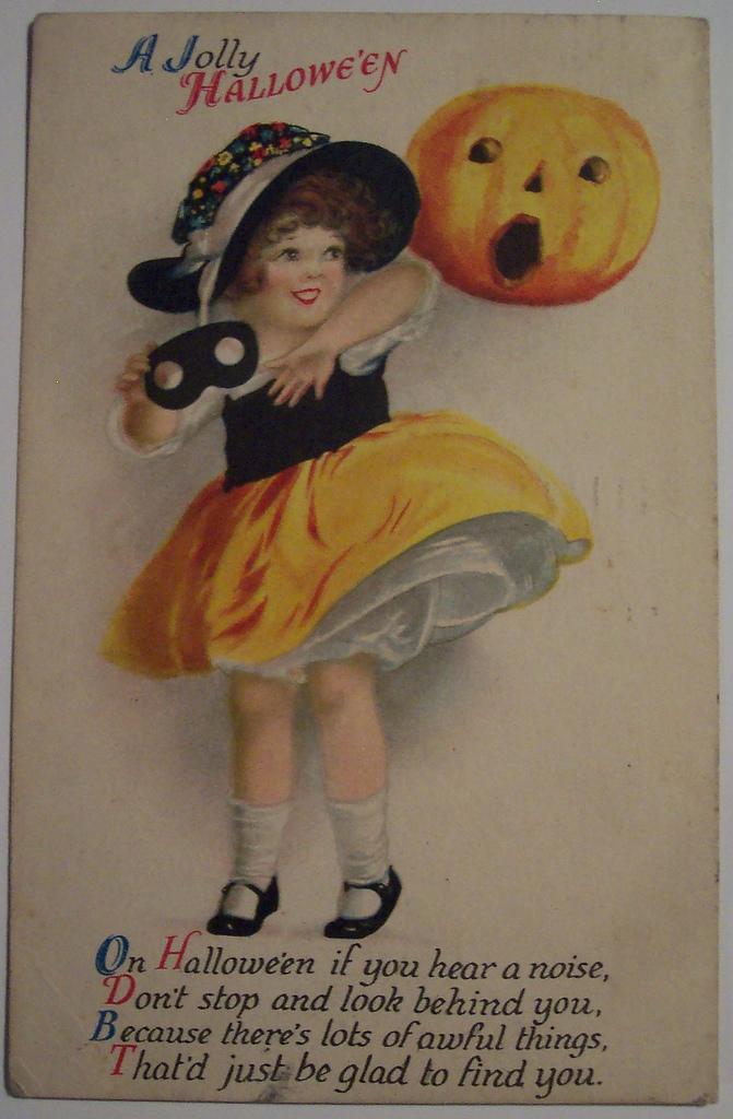 postales vintage Halloween 45