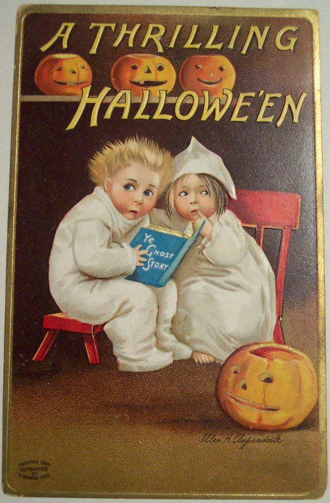 postales vintage Halloween 65
