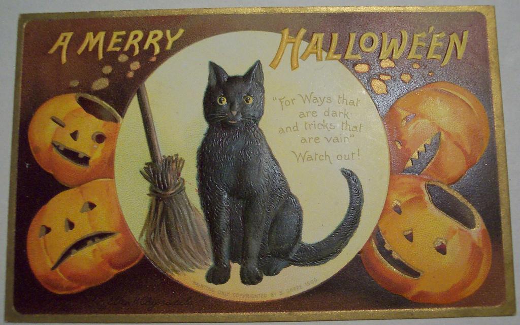 postales vintage Halloween 66