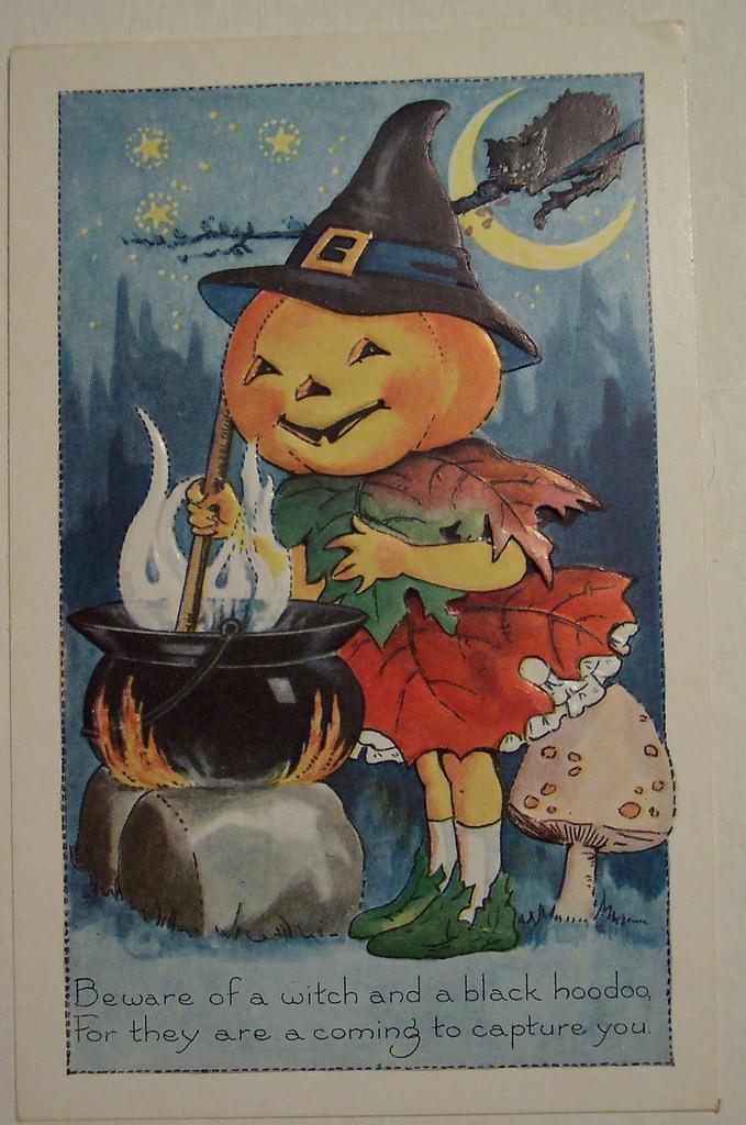 postales vintage Halloween 70