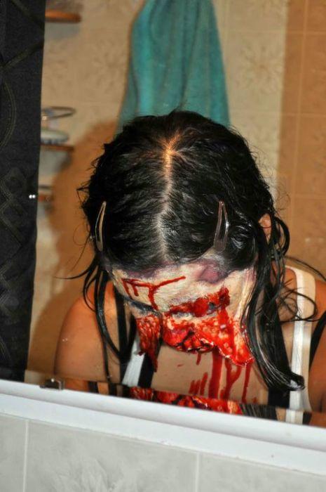 traje disfraz maquillaje zombie 6