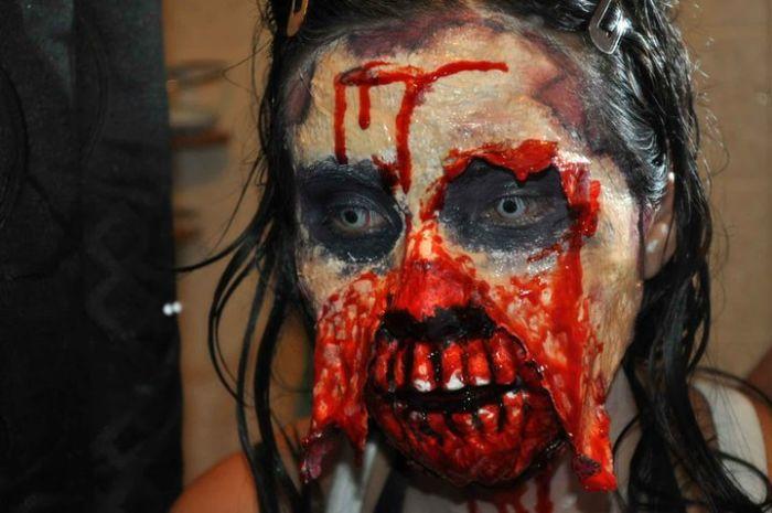 traje disfraz maquillaje zombie 7