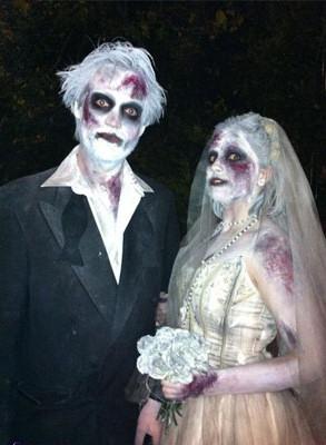 trajes halloween boda zombie