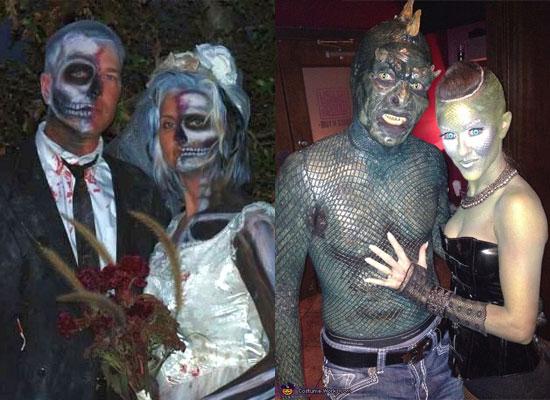 trajes halloween esqueletos lagartos
