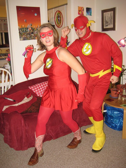 trajes halloween flash