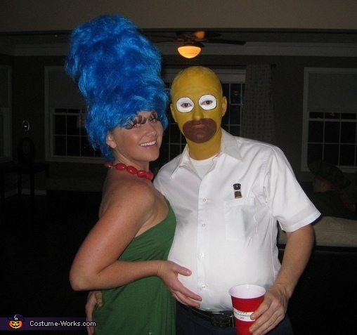 trajes halloween marge homer simpsons