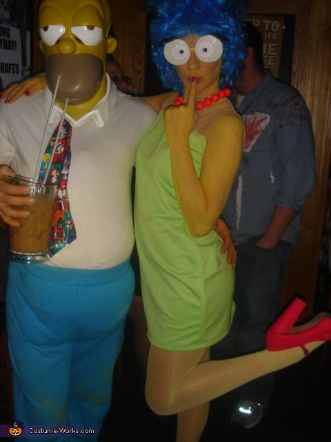 trajes halloween marge homer