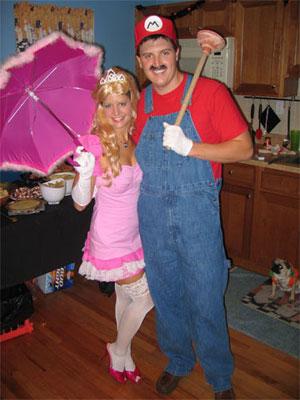 trajes halloween mario bros princesa