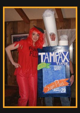 trajes halloween regla tampax