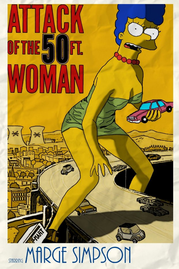 Attack 50 ft woman ataque mujer 50 pies simpsons