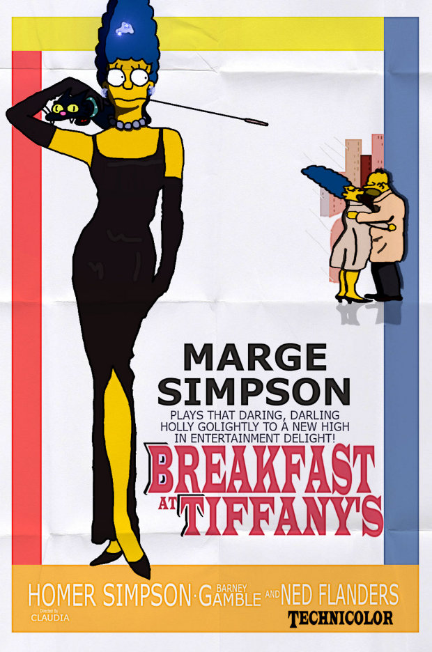 Breakfast Tifannys Desayuno diamantes simpsons