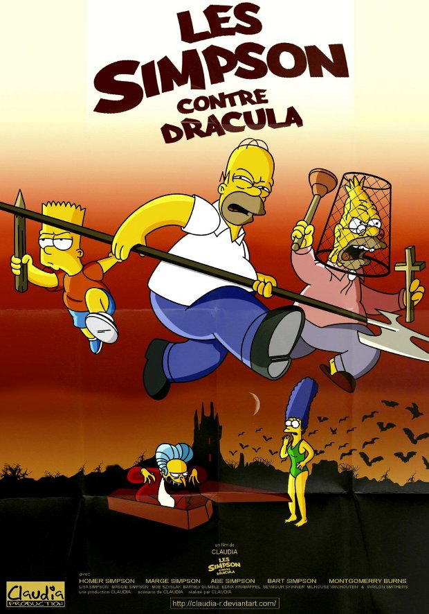 Les Charlots contre Dracula simpsons