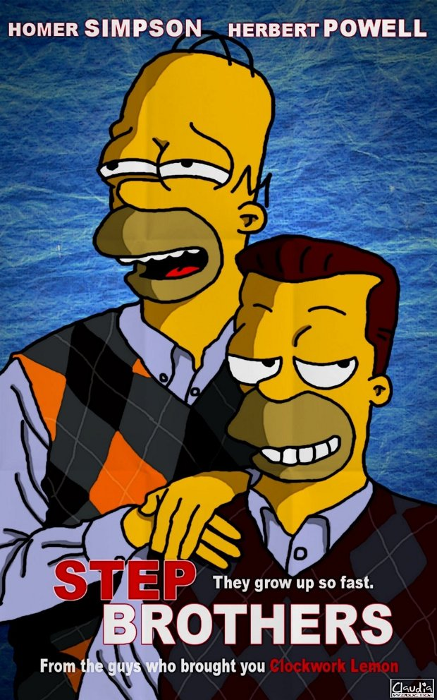 Step brothers Hermanos por pelotas simpsons